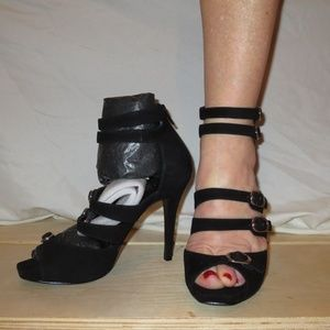 "BCBG New ""Melindas""Black Sandal Heels"